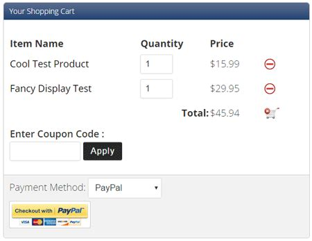 wp estore shopping cart templates full cart display