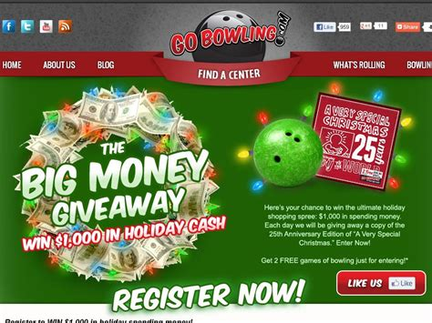 Big Money Giveaway - gobowling com big money giveaway sweepstakes