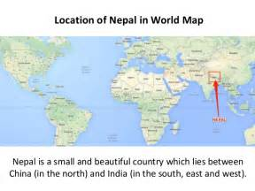 Location Of Nepal In World Map by Nepal