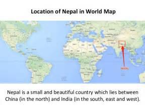 World Map Of Nepal by Nepal