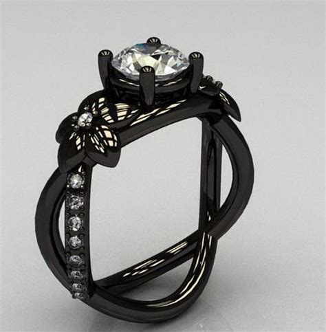 1000 ideas about black wedding rings on black
