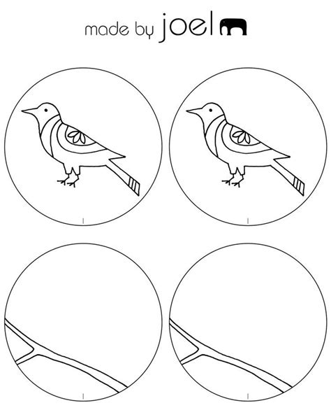 printable zoetrope bird templates coloring home