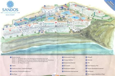hotel del layout plan of the hotel layout picture of sandos papagayo