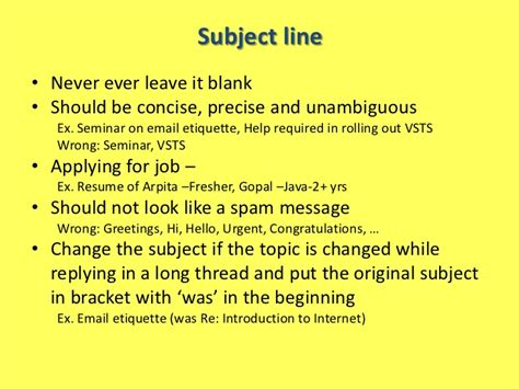 what to write in subject line when sending a resume email etiquette