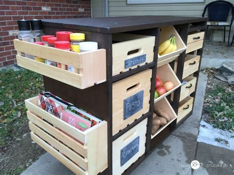 Food Pantries On Island by Build A Kitchen Island With Pantry Storage Icreatived