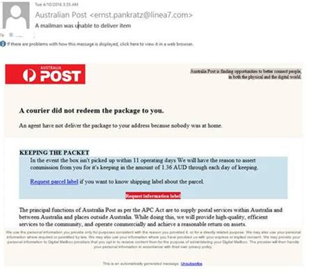 Courier Post Address Finder Scam Australia Post Parcel Delivery The Grey Nomads Forum