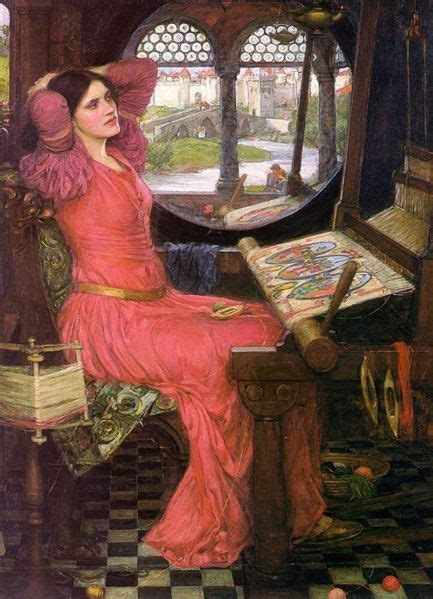 a preraphaelite lady two preraphaelite four grey walls and four grey towers