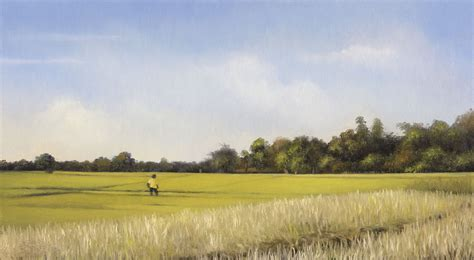 Landscape Artists Fields Rice Fields Landscape Painting Daily Paintings