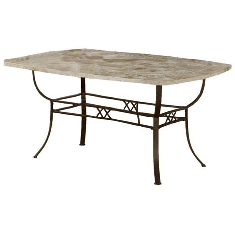 stone top dining table hillsdale brookside stone top rectangular casual dining