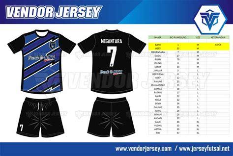 desain baju olahraga online pesanan pembuatan kaos olahraga futsal bank btn vendor