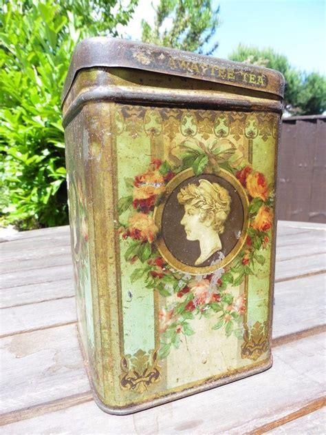 Tea Tin 1000 images about vintage tins enamel ware on