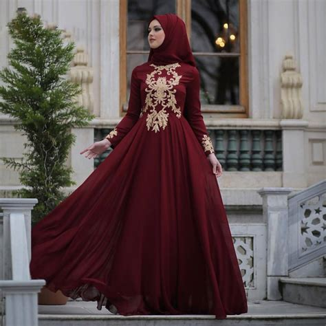 Dress Arabic Bordir Maroon 21 prom ideas with how to wear for prom