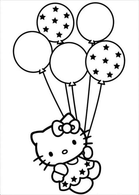 hello kitty birthday cake coloring pages 25 best ideas about hello kitty parties on pinterest