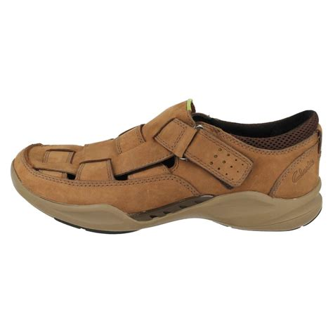 closed toe sandals mens mens clarks casual closed toe sandals wave ebay