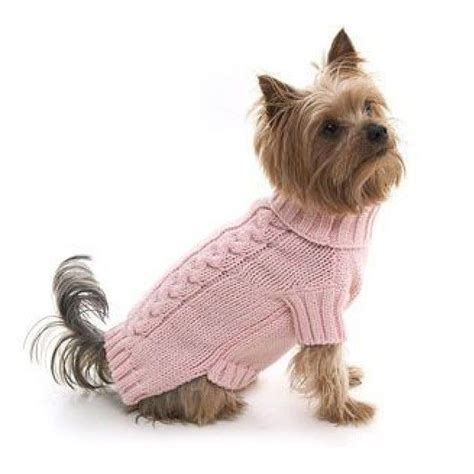 knitting pattern yorkshire terrier pink cable knit dog pullover i m a y o r k i e m o m