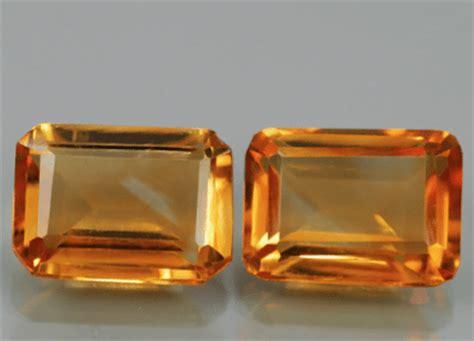 what color is madeira citrine 1 72 ct pair of madeira citrine gemstones
