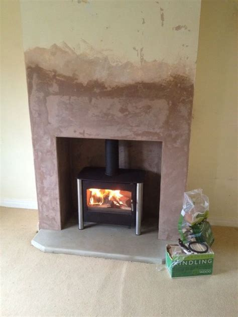 Fireplace Breast by New Fireplace False Chimney Breast To House Stove New