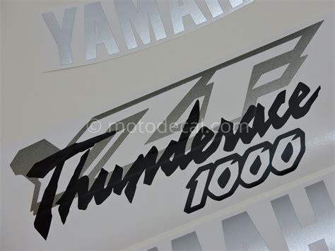 Aufkleber Yamaha Thunderace by Yamaha Yzf 1000r Thunderace 1996 2001 Black Silver Decal