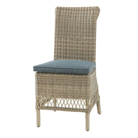 Garden Chair Material by Wicker And Fabric Garden Chair Cushion In Grey Rapha 235 L Maisons Du Monde