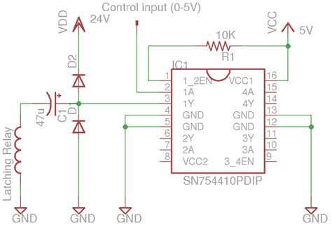 self latching relay circuit diagram efcaviation