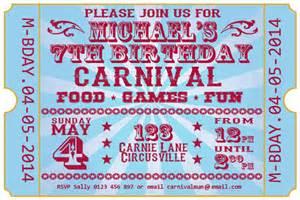 26 carnival birthday invitations free psd vector eps