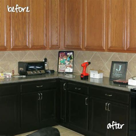 stain kitchen cabinets before and after making our dream home staining the kitchen cabinets