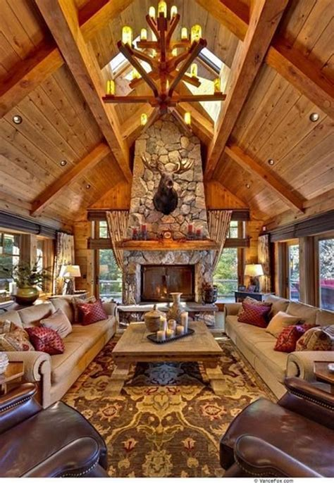 lodge home decor lodge cabin interior design log cabin home pinterest