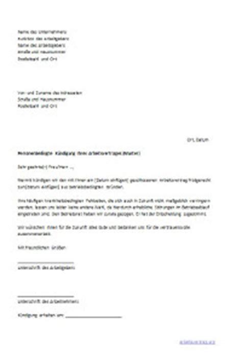 Mit Freundlichen Grüßen Brief Muster k 252 ndigungsschreiben f 252 r arbeitnehmer