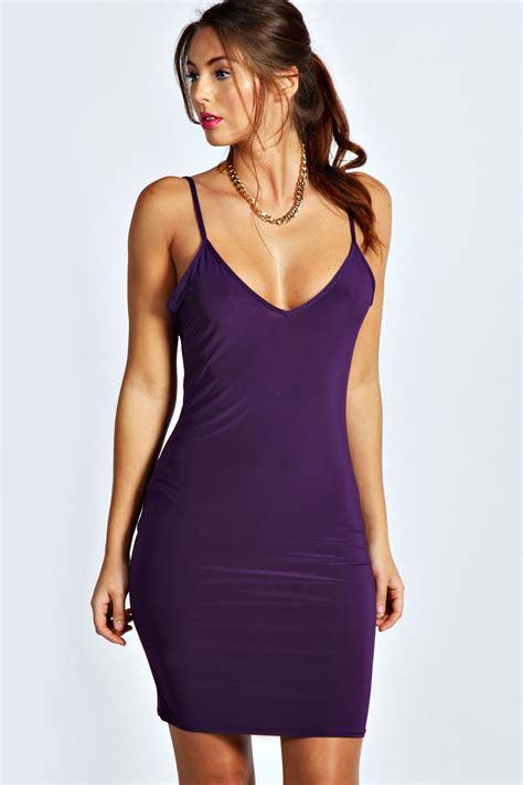 light purple bodycon dress abigail strappy slinky bodycon dress purple purple