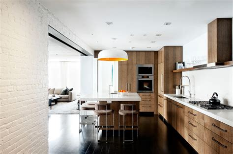 laight street loft industrial kitchen new york by