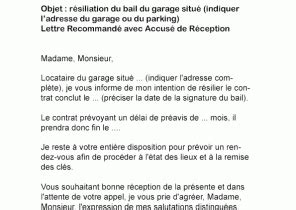 contrat de bail garage modele lettre resiliation bail garage par proprietaire
