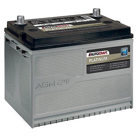 AutoCraft Platinum AGM Battery, Group Size 24F, 710 CCA