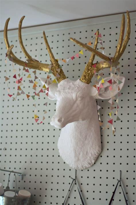 deer antlers diy craft room reveal sherwin williams hopeful pink