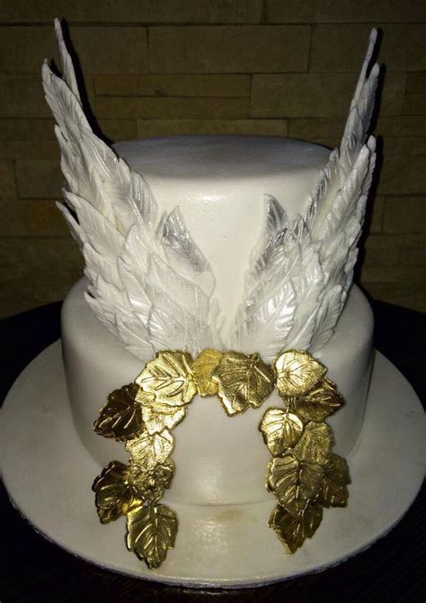 angel wing birthday cake birthday cakes  ladies   cake funeral cake
