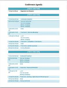 conference agenda template professional agenda templates for ms word document templates