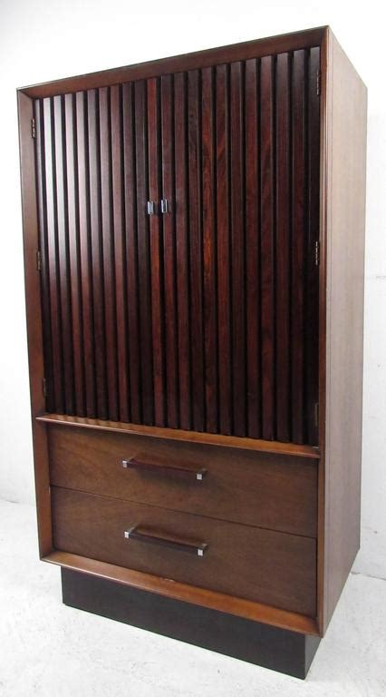 lane armoire mid century rosewood and walnut armoire by lane for sale