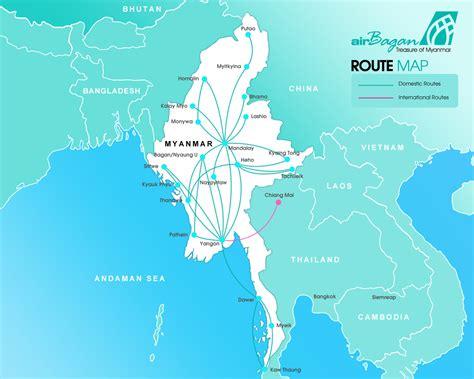 route map air bagan