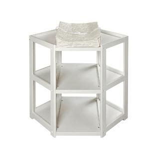Corner Changing Table White Badger Basket 02205 Corner Changing Table White