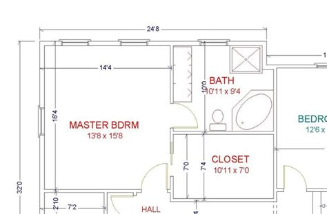 bedroom bathroom floor plans master bath layout baths pinterest walk in layout