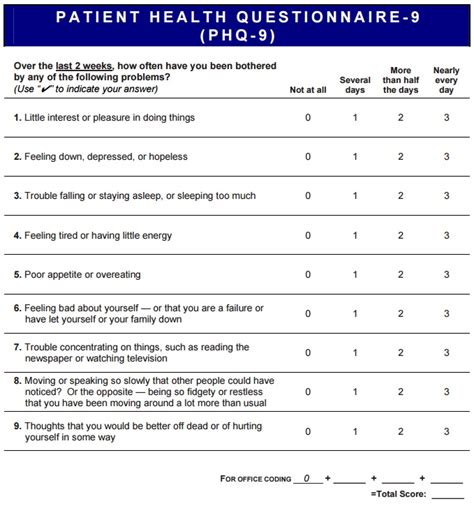 printable patient health questionnaire phq 9 depression questionnaire related keywords phq 9
