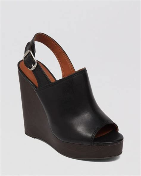 lucky brand open toe platform wedge sandals ronand in