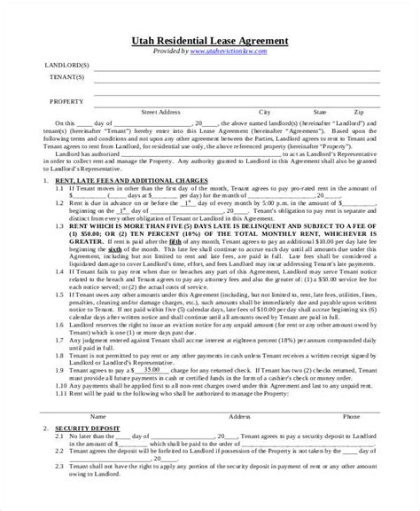 Residential Lease Agreement Pdf Free Lease Agreement Form Template