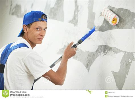 painting work painter at home renovation work with prime royalty free