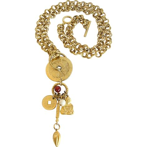 asian theme charm necklace from link2jewels on ruby