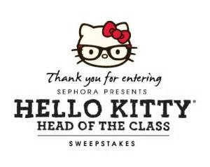 Sephora Sweepstakes Winners - sephora hello kitty head of the class sweepstakes win a macbook air and more