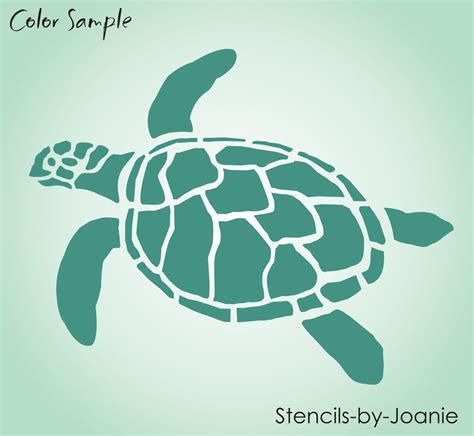 turtle stencil ocean sealife sand beach animal tortoise