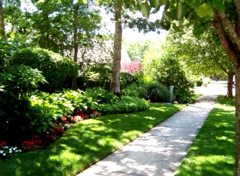 backyard landscaping plans lush green garden with stone landscaping flowers hedge and