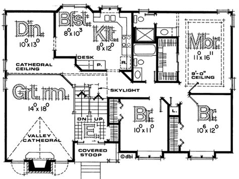 Split Entry House Plans - split foyer house plans house plan w3490 detail from
