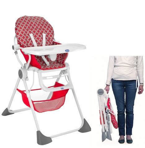 chicco reclining high chair new chicco red wave pocket lunch highchair baby feeding
