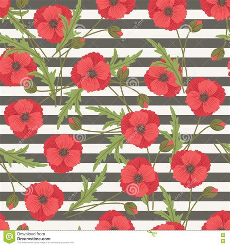 pattern for fabric poppy poppy flowers seamless pattern stock vector illustration